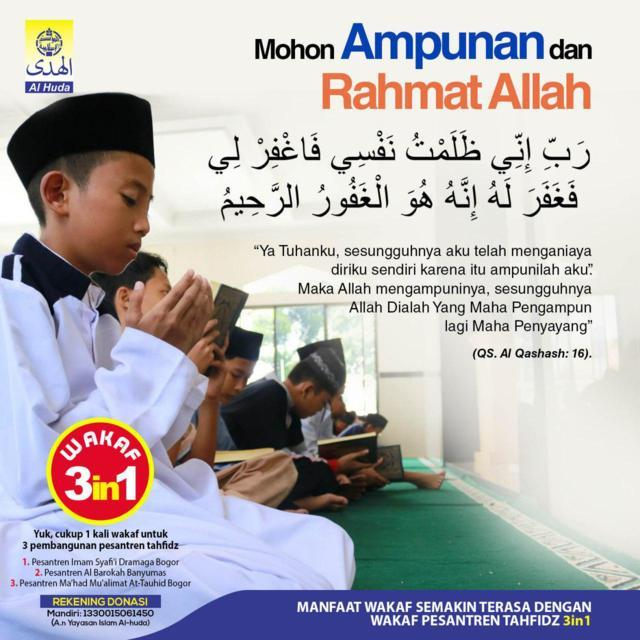 Doa Mohon Ampunan dan Rahmat Allah Al-Huda Peduli