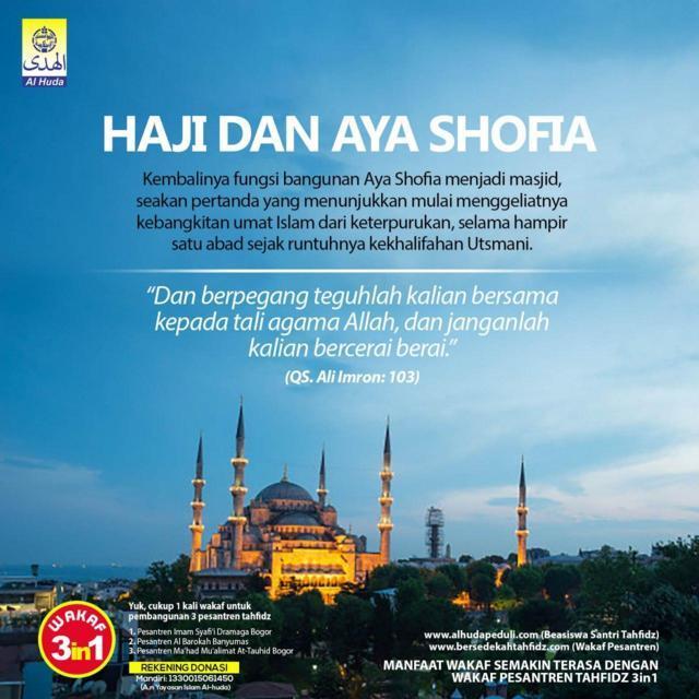 HAJI DAN AYA SHOFIA Al-Huda Bogor